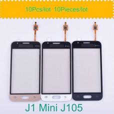 10 pçs/lote sensor de tela toque digitador exterior lente vidro painel frontal para samsung galaxy j1 mini j105 SM-J105Y j105h j105m/ds
