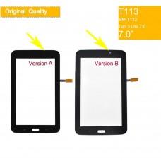 10pcs 3 originais Tela Sensível Ao Toque Para Samsung Galaxy Tab 7.0 Lite SM-T113 T113 Tab3 Toque Digitador Frente Da Tela de Toque De Vidro painel