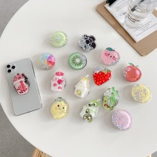 Glitter Jelly Quicksand Liquid Lovely Kids Phone Stand Holder For iPhone 11 Pro se 2020 Huawei Xiaomi Universal Ring Stand