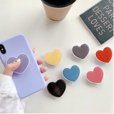 Pocket Socket Airbag Stand Holder Mobile Phone Accessories Holder Love Heart Shaped Bracket Mount for IPhone X 11 Samsung Huawei