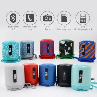 TG129 Portable Fabric Wireless Bluetooth Speaker mini columnar outdoor waterproof surround speaker support TFCard FM Radio