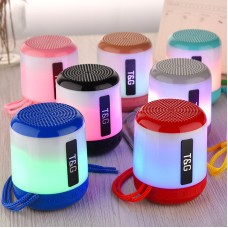 Hot Selling New LED Light Colorful Portable Wireless MINI Blue Tooth Speaker With USB TF card SD Card & FM radio TG156