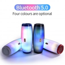 Portable Wireless Bluetooth Speaker With dancing LED flashing light TG165 With 10W speaker Mp3 AUX USB FM Radio Stereo Subwoofer