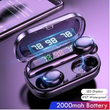 8D Wireless Earphone Bluetooth V5.0 Sports Wireless Headphone LED Display Touch Control Stereo Earbuds with Microphone Headset