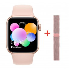 IWO 10 T500 Plus Smart Watch MTK2502 Full Touch Screen Smartwatch Heart Rate Sleep Monitoring Waterproof Wristwatch 44mm IWO 12